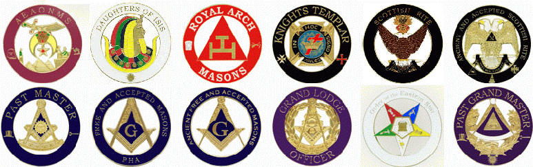 Prince Hall Affiliated Masonic Car Emblem in Black for Christmas
