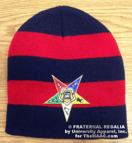 Navy/Red OES rugby toboggan