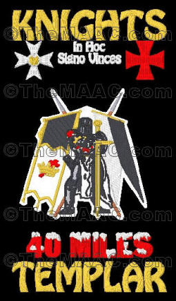 KT Supreme patch design. Shown with Templar Knight #2, +$10.00