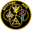 Scottish Rite combo (wings up or down, specify 32° or 33°)